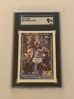 1992-93 Topps SHAQUILLE O'NEAL SGC 9 MINT Rookie Card RC #362 Orlando MAGIC