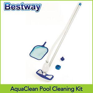 Bestway AquaClean Pool Cleaning Kit For Above Ground Pools, Pool Vacuum & Net