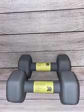 Pair of 12lb Dumbbells All in Motion Neoprene Hand Weight Total 24 Pounds NEW