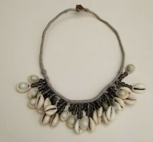 """Artisan Crafted Cowrie Shell And Beads Necklace 20.5"""""""