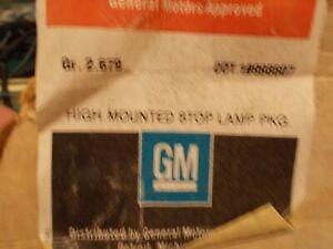 GM NOS High Mount Red 3rd Brake Stop Lamp Light Kit Wiring #998607 Caprice ?
