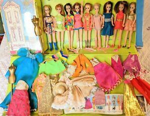 Vintage Topper Dawn 9 Doll lot Model Majorette Dancing Clothing shoes clone mod