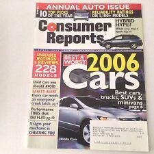 Consumer Libro Revista Honda Civic Anuario Auto Edición Abril 2006 060517nonrh