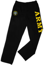 Army Sweatpants w/ Pockets -Straight Leg Sweats Workout Gym Pants Mens Gifts