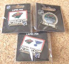 3 - Different 2015 Stanley Cup Playoffs pins NHL SC Minnesota Wild pin