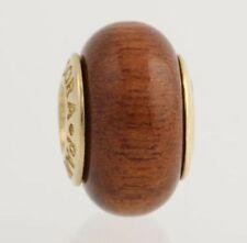 Nuevo retirado Pandora Encanto woodbead-Oro amarillo 14k Core clásicos para mujer 750706