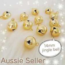 Large Gold Jingle Bells DIY Charm Craft Pet Dog Cat Collar 14mm Bell AU SELLER