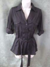Antilia Femme Tunic Shirt Size Small Safari-Style Dark Indigo NWT