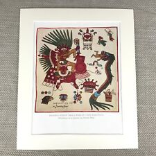 Antique Ethnic Print Aztec Tribe South American Native Gods Codex Borbonicus
