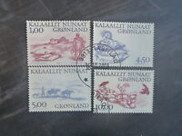2001 GREENLAND ARTIC VIKINGS SET 4 USED STAMPS