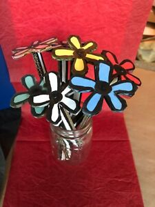 Bill Barminski Signed Original Artwork- Hand-Made Cardboard Flower (single)
