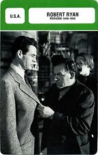 Actor Card. Fiche Cinéma Acteur. Robert Ryan (U.S.A.) Période 1940-1955