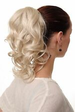Hair Piece/ Pigtail Wavy Medium Length 35 cm 1 Comb + Elastic Band perl-blonde