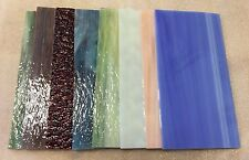 "8""x4"" 8 Assorted Pack Spectrum & Wissmach Stained Glass Sheets"