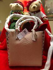 NWT Coach Madison Python Emb Leather Mini Tote Crosbody Handbag 28173 Pink Blush