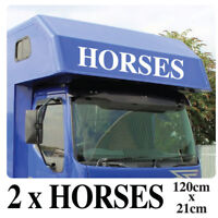 Horsebox Graphics large Vinyl Sticker Decals Horse Box Van rv1