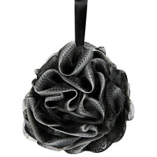 Black Loofah Shower Pouf Bath Product Luffa Sponge Exfoliating Mesh Pouf Luxury