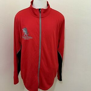 UNDER ARMOUR RED POLYESTER FULL ZIP LOOSE FIT ATHLETIC JACKET SIZE 2XL Z01-16