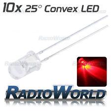 10x 3 Mm Ultra Brillante Transparente Led Diodo 2.4 V Rojo Diodo Emisor De Luz 25 °