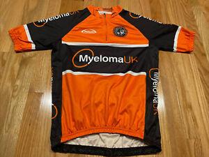 Takeda Bike Cycling Mens Size Small Orange Jersey