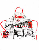 London Küchenschürze Apron,Big Ben,Tower Bridge,Red Bus ...