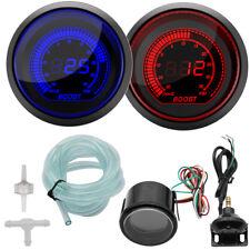 52mm White Display Digital Gauge Boost Vacuum Turbo Meter Blue/Red Smoke Led Psi