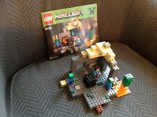 Displayed Lego Minecraft The Dungeon 21119 Authentic Zombies Steve Manual