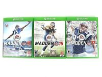 Xbox One Madden NFL 15 16 17 Sports Lot Of 3 Games Microsoft GUC Free Shipping