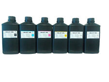6x1000ml Premium Led UV Curable ink for Ricoh Spectra Xaar Konic Printer head