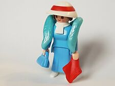 Playmobil Western West Victorian Woman Figure Custom With Boa And Bag, Lady