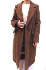 Cappotti e giacche da donna marrone misto lana bottone