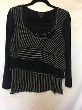 Gordon smith black and whit top size M
