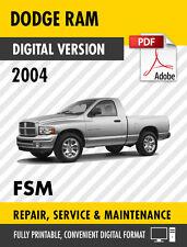 2004 DODGE RAM 1500 2500 3500 4000 WORKSHOP MANUAL / SERVICE MANUAL OEM