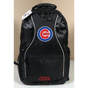 Chicago Cubs Backpack Adult Size MLB Black Zippered Laptop Tablet Bag