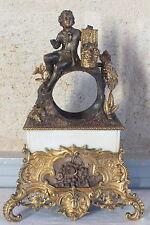 pendule bronze bronze doré sans mouvement pendulette gentilhomme vendanges clock