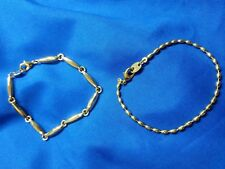"Set of two gold tone 6 3/4"" bracelets, never worn"