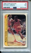 1986 Fleer Basketball Sticker #8 Michael Jordan Rookie Card Graded PSA Nr Mint 7