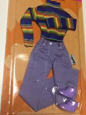 🆓SHIP~Vintage Barbie Clothes Shoes~MIP~Mattel~Jeans Fashion~Pastel~Purple~RARE