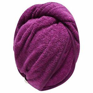 HAIR DRY 100% COTTON TURBAN LARGE TOWEL HAIR WRAP BATH TOWEL CAP HAT