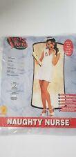 Adult NAUGHTY NURSE Fancy Dress Hospital Sexy Ladies ER Costume UK Sizes 6-10