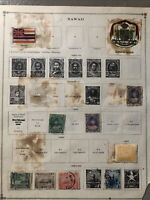 Hawaii Specialized Stamp Album Page 1893-1899