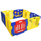 Baby Playpen Safety Play Yard Fence Activity Centre Kids 8 Panel with Gate Door