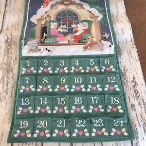 """Vintage Avon 1987 Christmas Advent Calendar No Mouse  12.5""""  x  24"""" No Holder"""