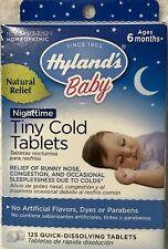 Hylands Baby TINY COLD TABLETS homeopathic 125 Total Tabs NIB.