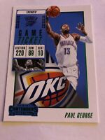 """2018-19 Paul George panini contenders """"red"""" game ticket #63 mint okc thunder"""
