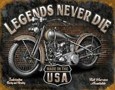 Legends - Never Die       Vintage Style Metal Signs Man Cave Garage Decor 69