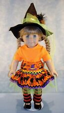18 Inch Doll Clothes - Modern Colorful Witch Halloween Outfit made by Jane Ellen