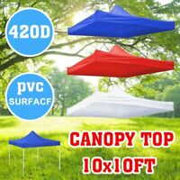 1pc 10x10ft Canopy Top Replacement Patio Outdoor Sunshade Tent Cover Replacement