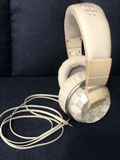 Kicker HP401W Wired White Headphones With Kevlar Cord