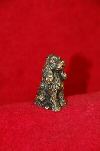 Solid brass bronze Cocker Spaniel dog figurine figure handcraft statue sculpture